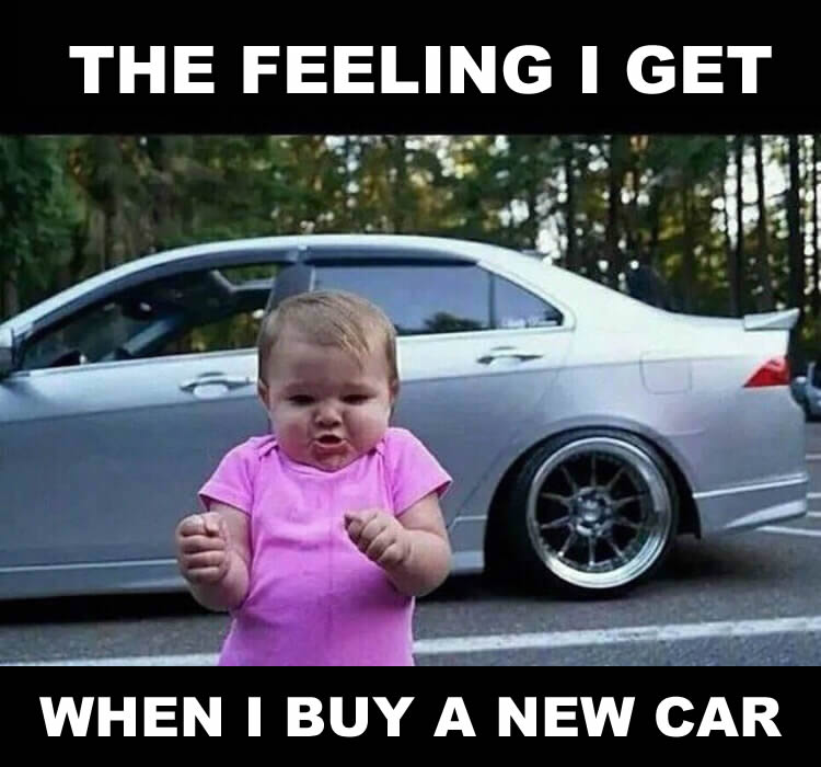 buying a new car feeling